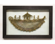 Naav Jaali in Wooden Frame Laminated in Glass (6 Figurines)